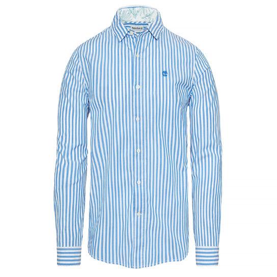 Men's Suncook River Striped Shirt Light Blue | Timberland