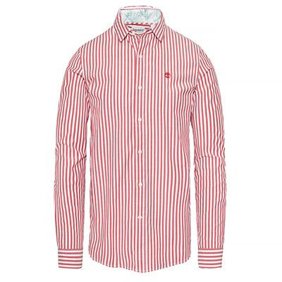 Suncook+River+Striped+Shirt+Hombre+Rojo