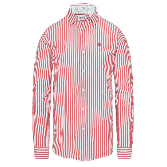 Suncook River Striped Shirt Heren Rood | Timberland