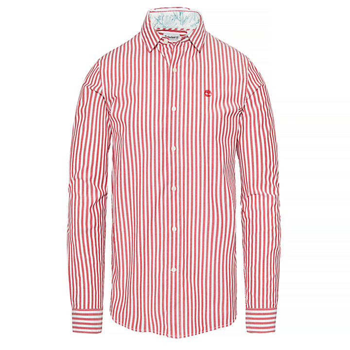 Men's Suncook River Striped Shirt Red-