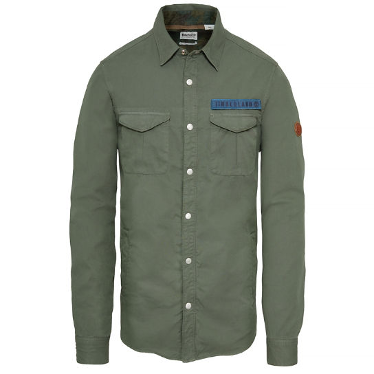 Men's Mascoma River Military Shirt Green | Timberland