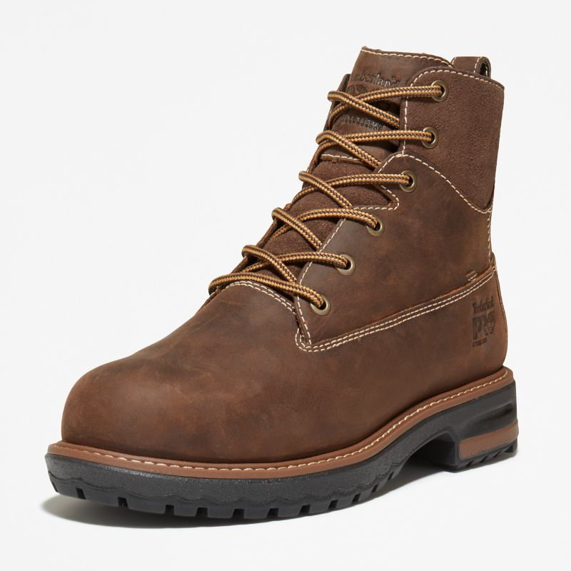 Timberland - 6-inch hightower worker boot braun - 8