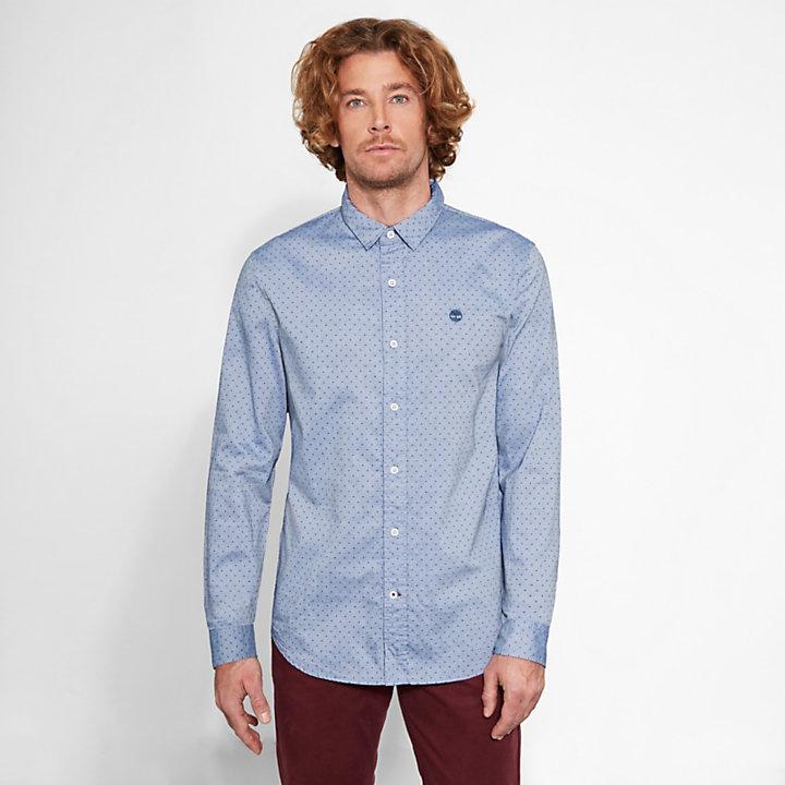 Men's Tioga River Textured Shirt Blue-