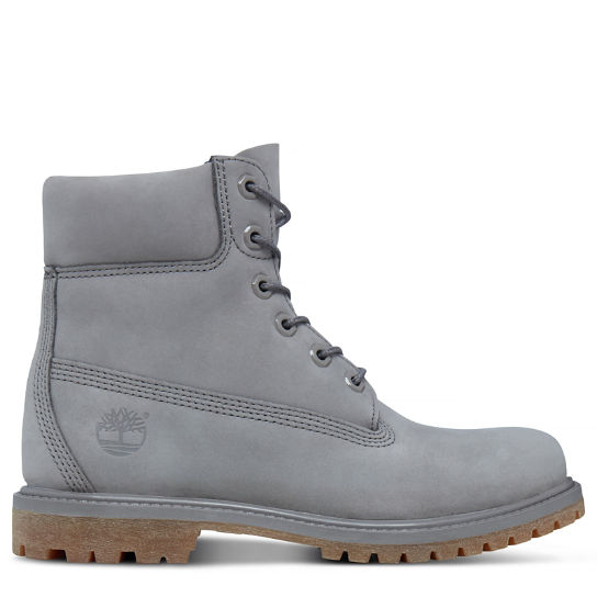 Premium 6 Inch Boot for Women in Grey | Timberland