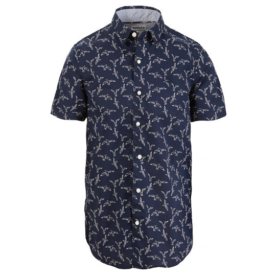 Suncook River Popelin Shirt Heren Marineblauw | Timberland