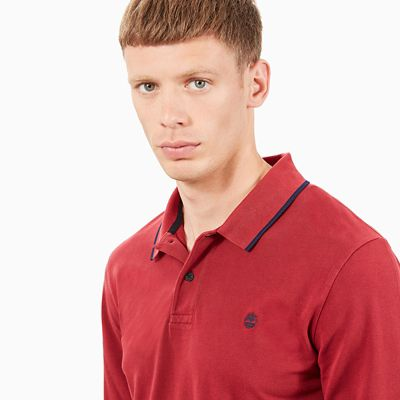 Millers+River+Polo+Shirt+for+Men+in+Red