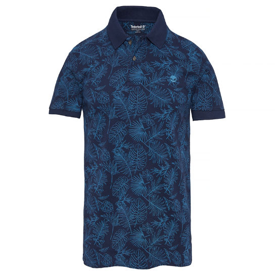 Men's Millers River Print Polo Shirt Blue | Timberland