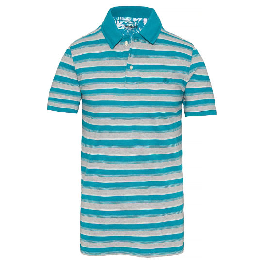 Men's Kennebec River Stripe Polo Shirt Teal | Timberland