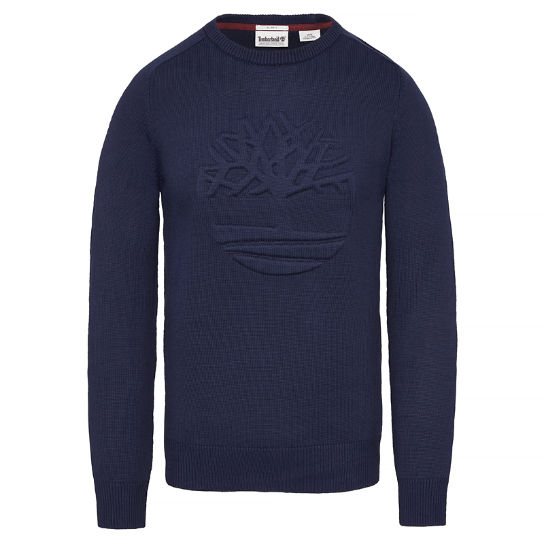 Men's Stop River Logo Sweatshirt Navy | Timberland
