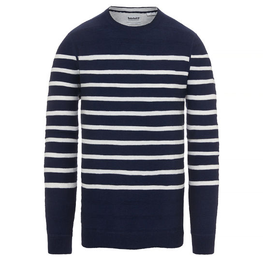 Men's Mill River Striped Sweater Navy | Timberland