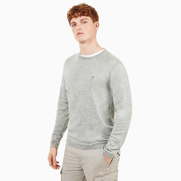Saxtons River Silk Blend Sweater Heren in Grijs-