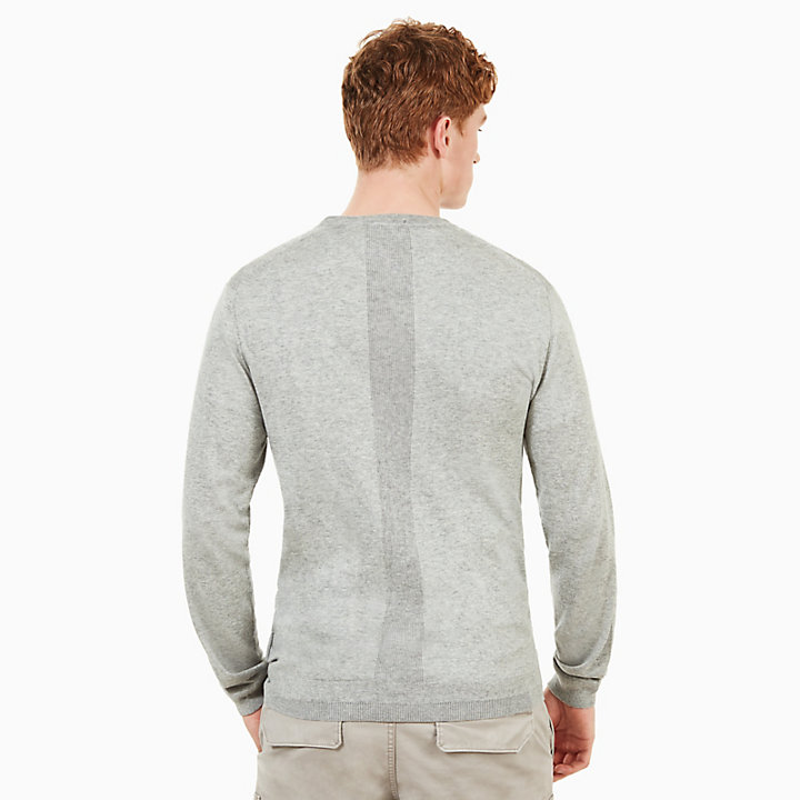 Saxton's River Silk Blend Sweater for Men in Grey-