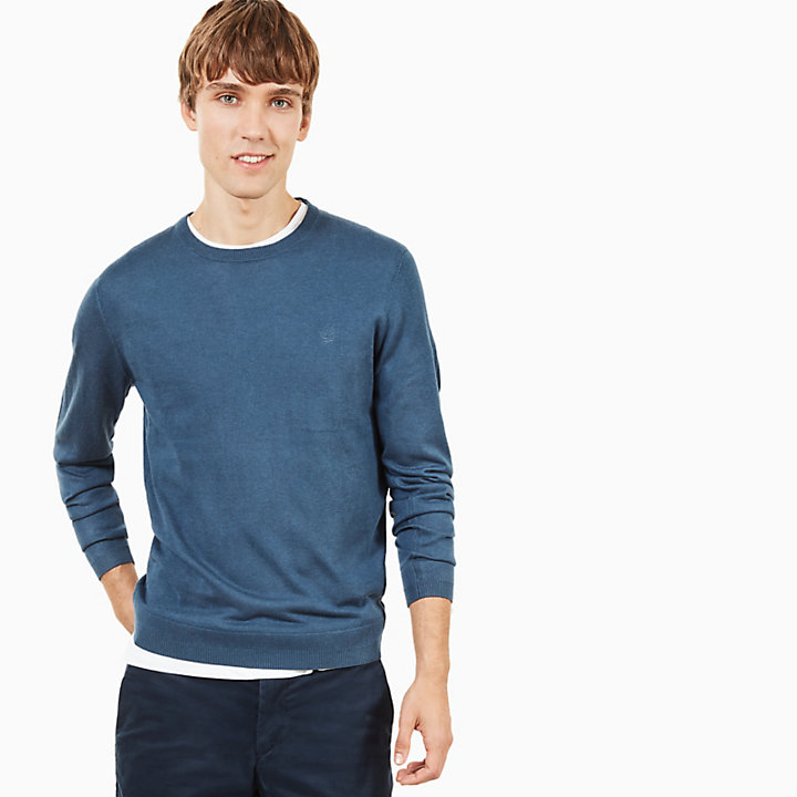 Saxton's River Silk Blend Sweater for Men in Indigo-