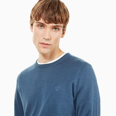 Saxton%CA%BCs+River+Silk+Blend+Sweater+for+Men+in+Indigo