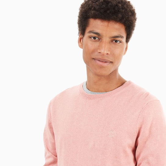 Saxtons River Silk Blend Sweater Heren in Roze | Timberland