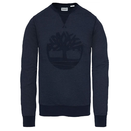 Westfield River Tree Sweatshirt Navy Heren | Timberland