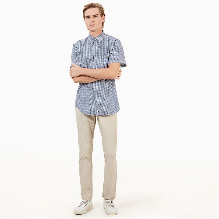 SS Suncook River Small Gingham Shirt Slim Indigo-
