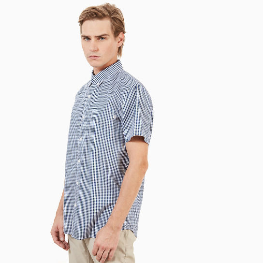 SS Suncook River Small Gingham Shirt Slim Indigo | Timberland