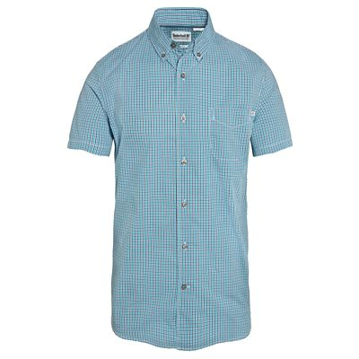Men%27s+Suncook+River+Gingham+Shirt+Turquoise