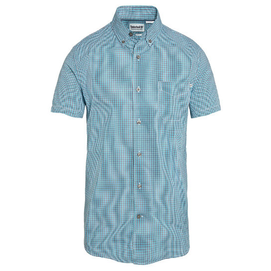 Men's Suncook River Gingham Shirt Turquoise | Timberland