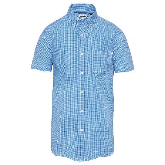 Men's Suncook River Gingham Shirt Blue | Timberland