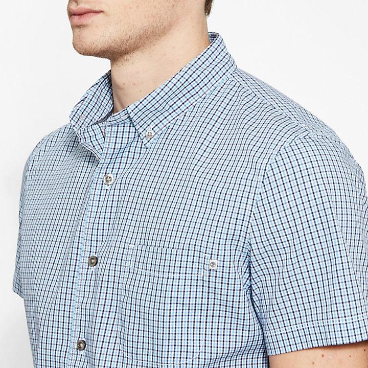 Suncook River Gingham Shirt Hombre Azul/Azul-