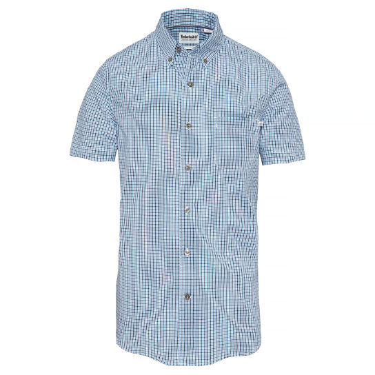 Men's Suncook River Gingham Shirt Blue/Blue | Timberland