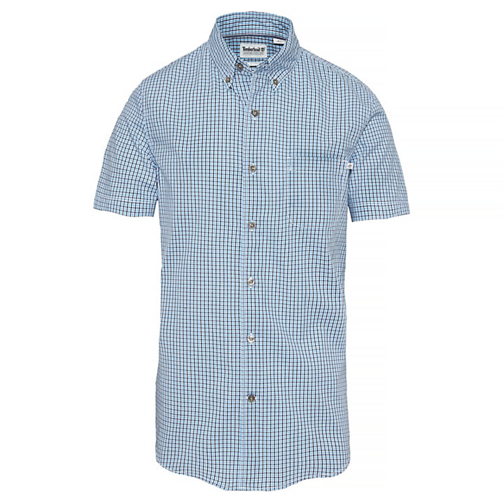 Men's Suncook River Gingham Shirt Blue/Blue-
