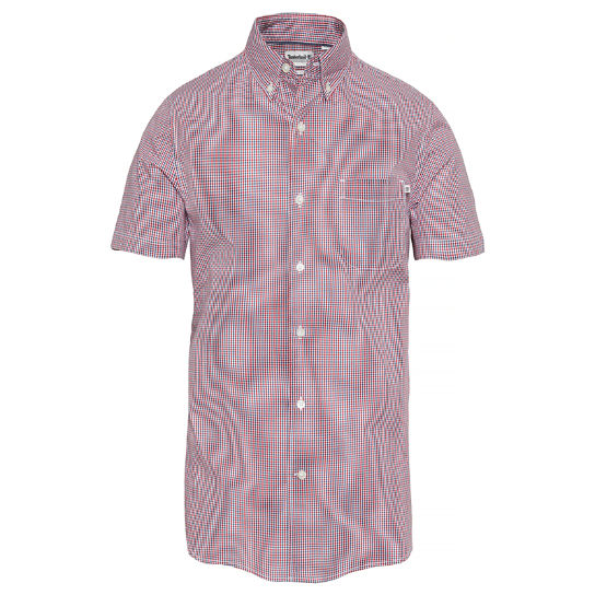 Men's Suncook River Gingham Shirt Blue Red | Timberland