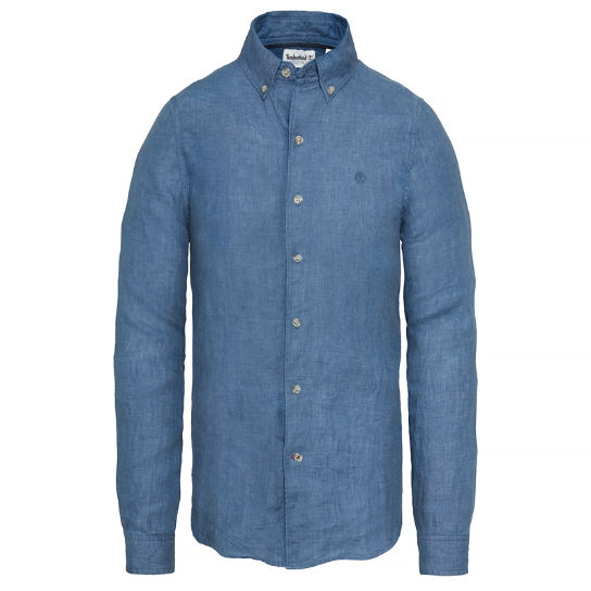 Men's Mill River Linen Shirt Dark Blue | Timberland