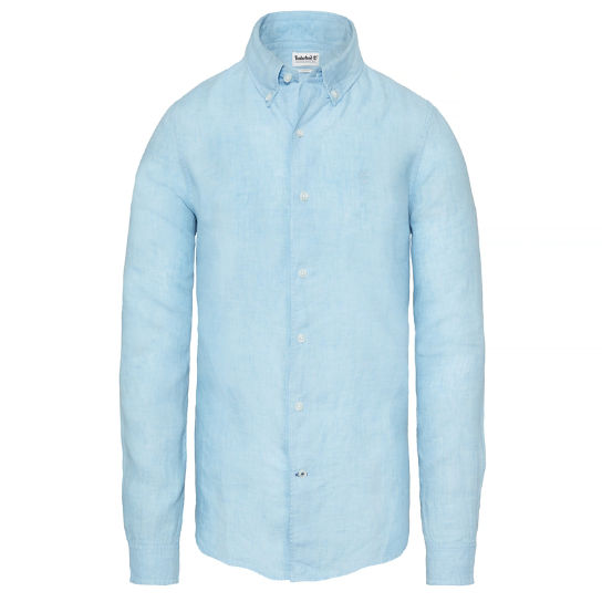 Men's Mill River Linen Shirt Blue | Timberland