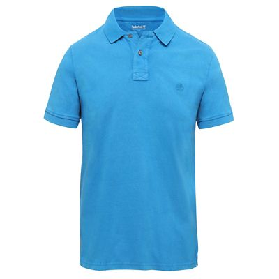 Sunwashed+Jersey+Polo+Shirt+for+Men+in+Blue