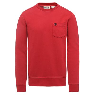 Sunwashed+Crew+Sweatshirt+for+Men+in+Red