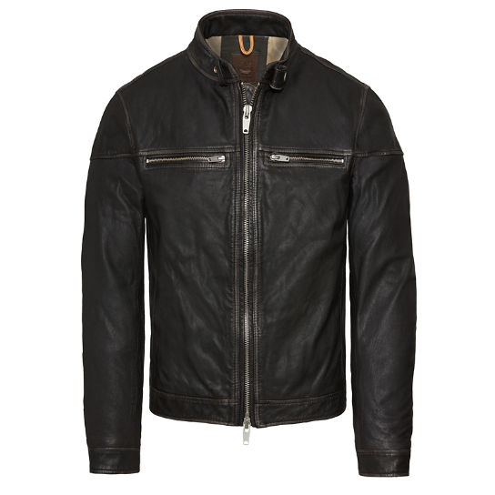 Herren Kinsman Mountain Leather Bomber Schwarz | Timberland