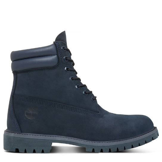 Double Collar 6 Inch Boot for Men in Navy   Timberland ed918cdccbdd