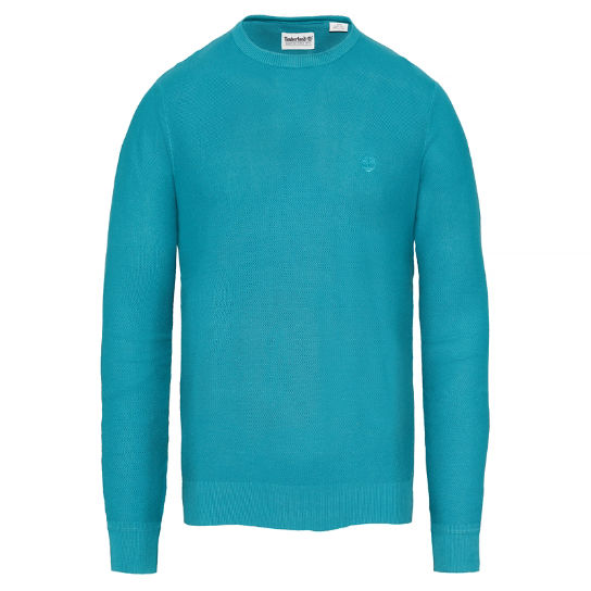 Men's Manhan River Crew Neck Sweater Teal | Timberland