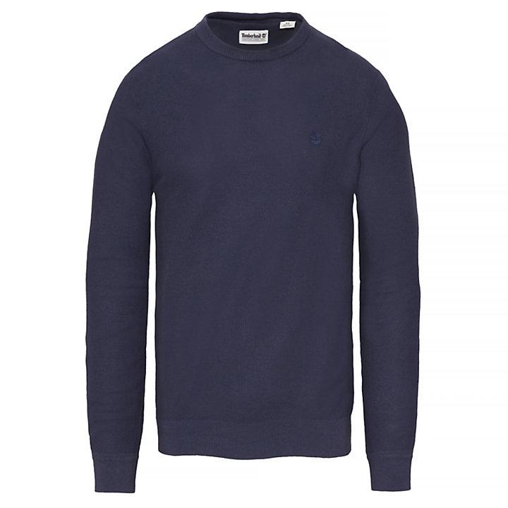 Manhan River Crew Neck Sweater Homme Bleu marine-