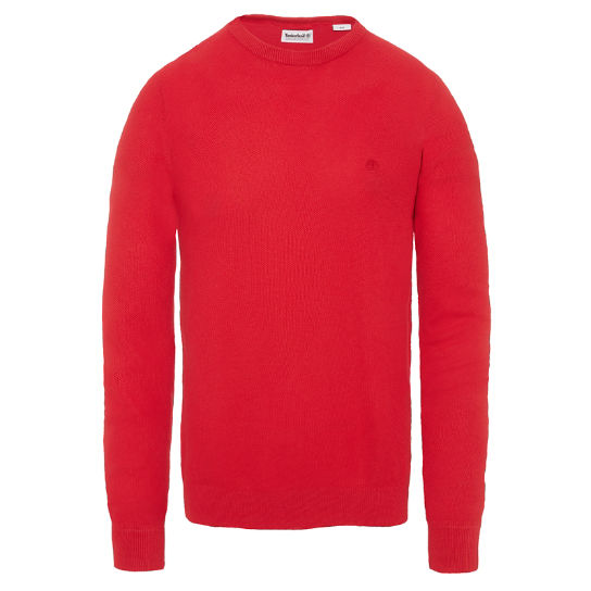 Men's Manhan River Crew Neck Sweater Red | Timberland