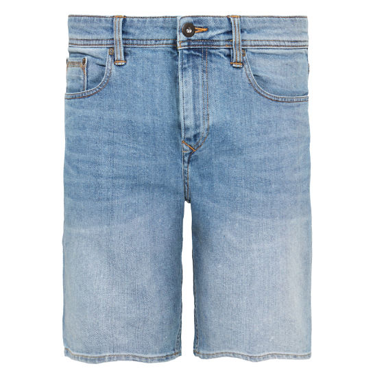 Canobie Lake Denim Shorts Heren Blau | Timberland