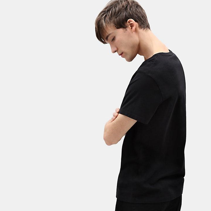 T-shirt Kennebec River Tree para Homem em preto-