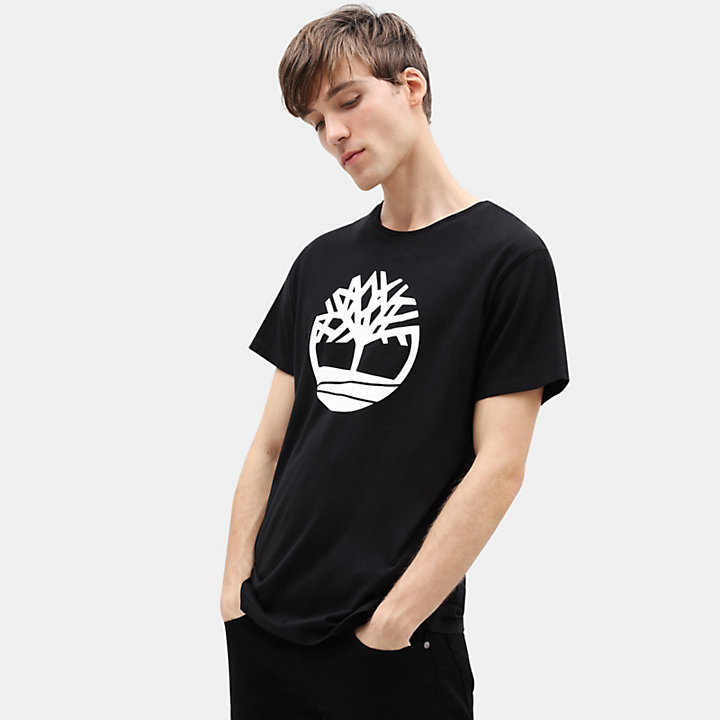 new high official site luxury fashion Kennebec River Tree T-shirt for Men in Black