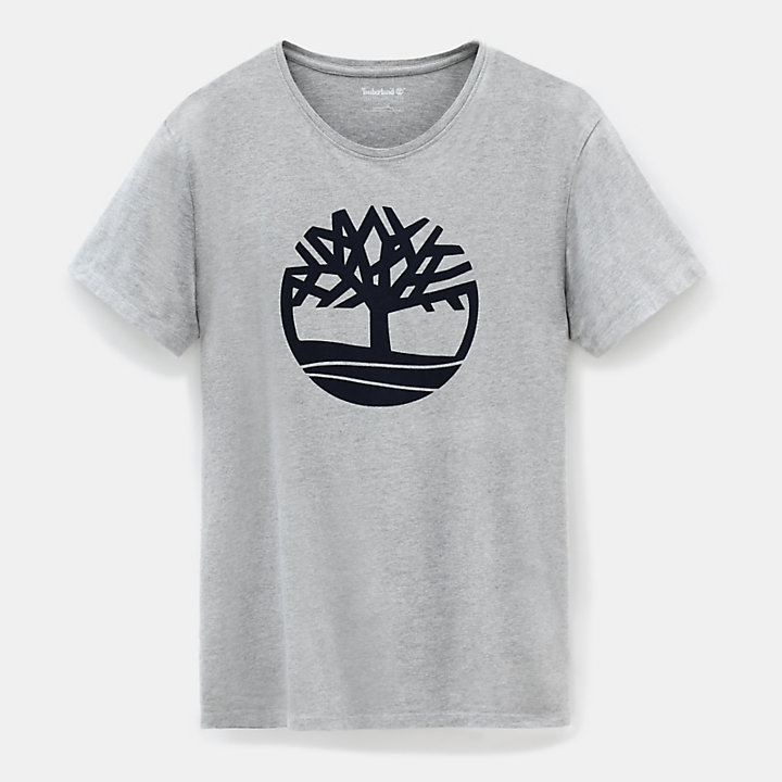 Kennebec River Tree T-shirt for Men in Grey-