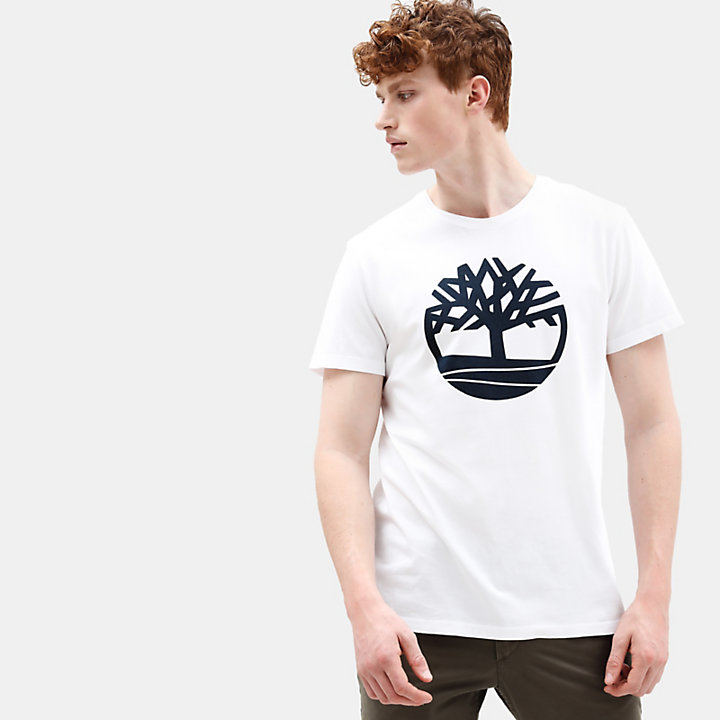 Camiseta Kennebec River Tree para Hombre en Blanco-