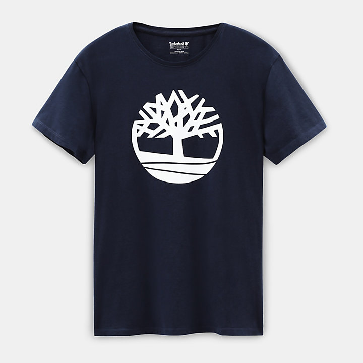 Kennebec River Tree T-shirt for Men in Navy-