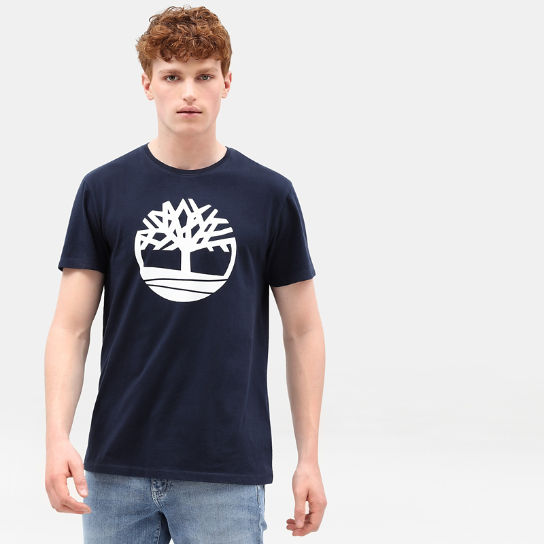 T-shirt da Uomo Kennebec River Tree in blu marino | Timberland