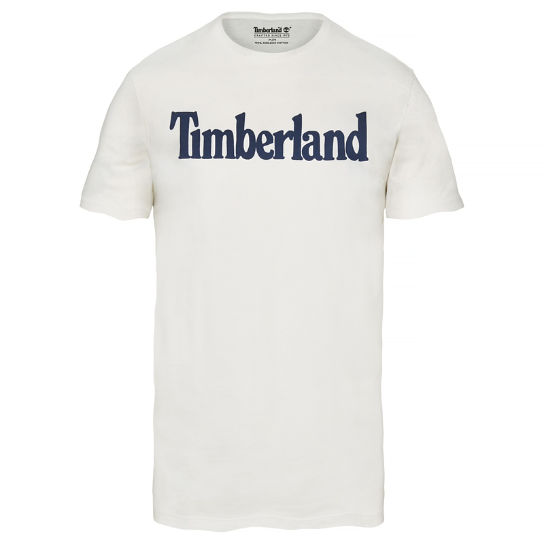 Men's Kennebec River Linear Logo T-Shirt White | Timberland
