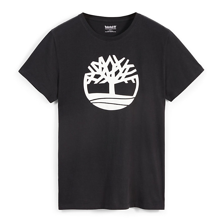 Kennebec River Tree Logo T-Shirt für Herren in Schwarz-