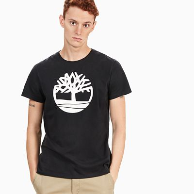 Kennebec+River+Tree+Logo+T-shirt+voor+Heren+in+Zwart