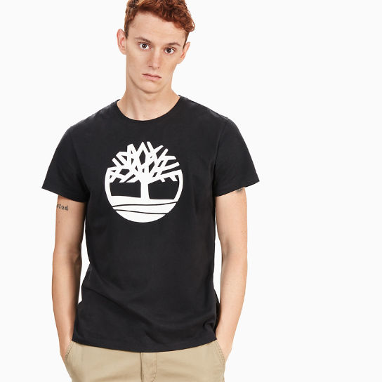 Kennebec River Tree Logo T-Shirt Heren Zwart | Timberland