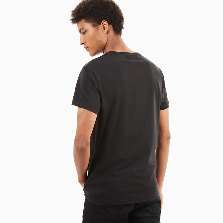 T-shirt Kennebec River Linear homme en noir-